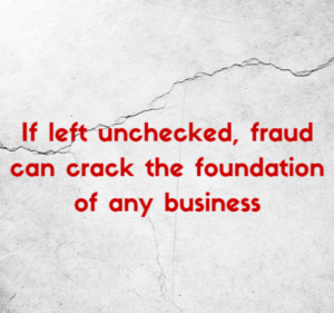 graphic with text on cracked rock