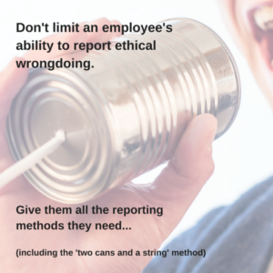 Let employees blow the whistle anonymously